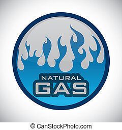gas natural design - gas natural graphic design , vector...