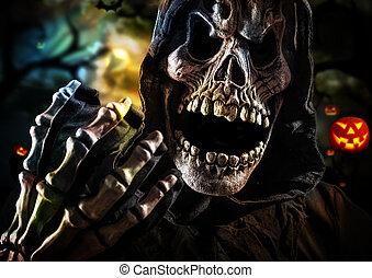 Grim reaper on a dark background