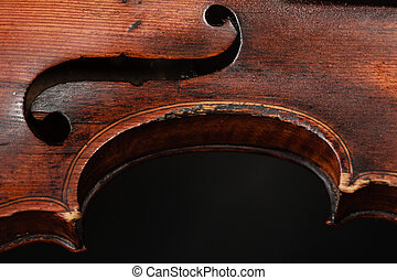 Closeup of violin instrument Classical music art - Art...