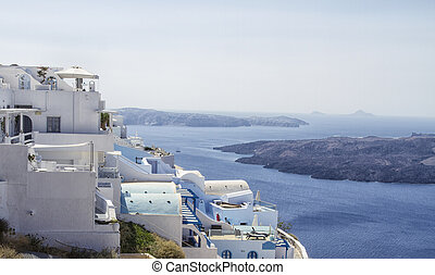 Beautiful scenery of Thira, Santorin September 2014