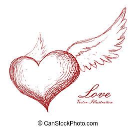 love design - love graphic design , vector illustration