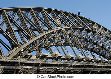 Sydney Harbour Bridge - The huge steel structure of the...