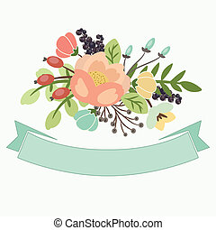floral banners for life events, vector collection