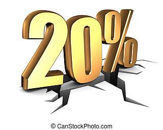 20 percent discount - 3d illustration of 20 percent doscount...