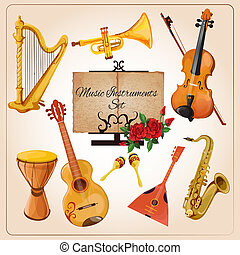 Music instruments color - Classical chamber orchestra...