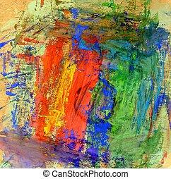 Multicolor Gouache Paint - Vibrant multicolor gouache...