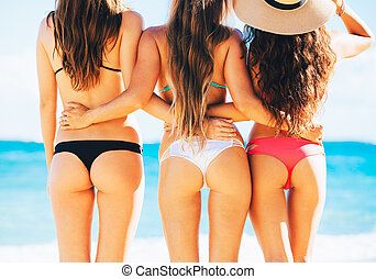Sexy Girls in Bikinis - Three Beautiful Sexy Girls in...