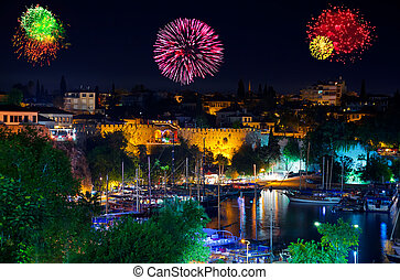 Fireworks in Antalya Turkey