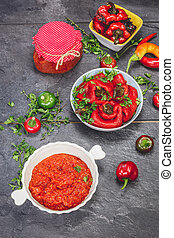 Ajvar, a delicious roasted red pepp - Roasted Red Pepper and...