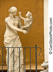 Sculpture in Vatican - Statue near the building in Vaticans...