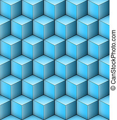 Infinity Cubes - Blue Infinity Cubes - Seamless Vector...