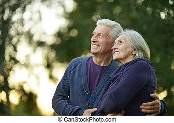happy mature couple - Portrait of happy mature couple...