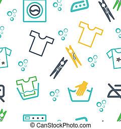 Various Laundry Themed Icons - Various Laundry Washing...