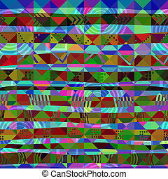 African seamless pattern of triangles. Vector illustration.