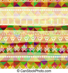 African seamless texture of triangles. Vector illustration.
