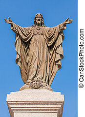 Outdoor Statue of Jesus