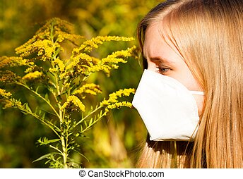 Ragweed Allergy - Common bad allergy to ragweed pollen.