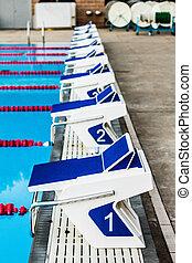 Olympic Pool Starting Blocks - Olympic 50m Outdoor Pool...