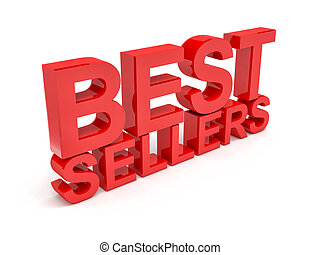 best sellers - 3d image of best sellers text on white...