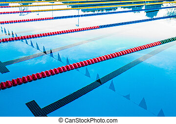 Olympic Pool Corridor Cables Floating - 50m Olympic Outdoor...