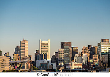 Boston Skyline at Dawn - Boston skyline in early morning...