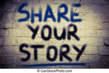 berättelse, begrepp, dela, din