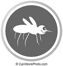 a mosquito in a grey Panel