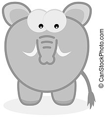 grey elephant with defense