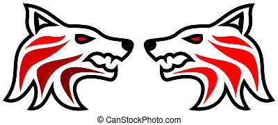tribal tattoo wolf