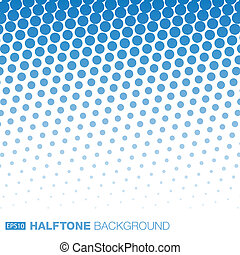 Abstract Blue Halftone Background - Abstract Blue Halftone...