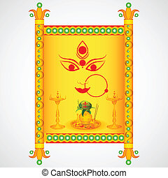 Happy Navratri - easy to edit vector illustration of Happy...