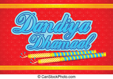 People doing Dandiya - easy to edit vector illustration of...