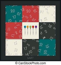 Dart board graphic - Conceptual dart board graphic design