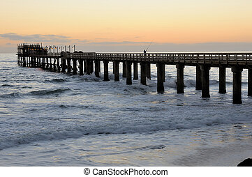 Old jetty in Swakopmund Namibia - Old historic German jetty...