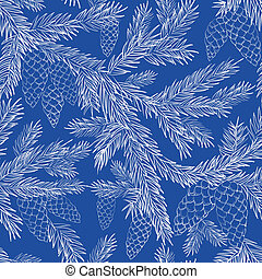 Seamless pattern fur-tree - Seamless pattern with fur-tree...