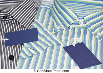 Shirts - Modern shirts with labels Fashion for men concept