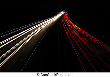 Autobahn bei Nacht - Freeway at night