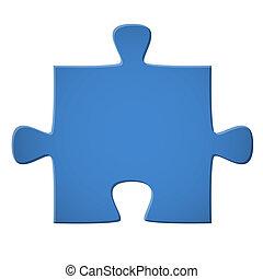 Puzzle piece blue