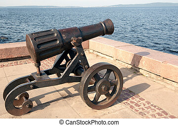 Pig-iron gun on Lake Onega - Petrozavodsk. Pig-iron gun on...