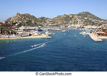 Cabo San Lucas Port - A beautiful veiw of the port of Cabo...