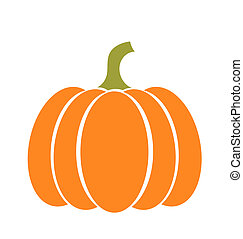Pumpkin illustration - Pumpkin icon Vector illustration