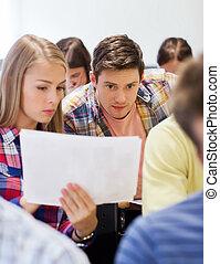 grupo, estudiantes, aula
