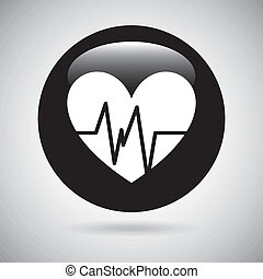 cardio design  - cardio graphic design , vector illustration