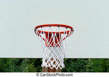 Basketball hoop - A basketball hoop with net