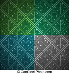 Seamless vector background for golf - Seamless abstract...