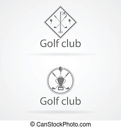 Vector illustration of two badge for golf club - Abstract...