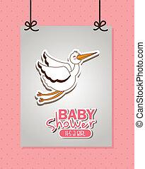 baby shower design - baby shower graphic design , vector...