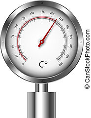Temperature meter gauge - illustration of a temperature...
