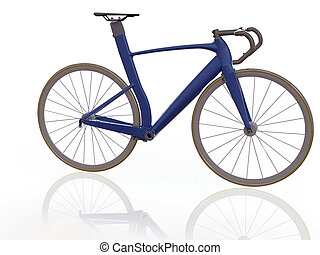 sport bicycle - rendering of sport bicycle , front view