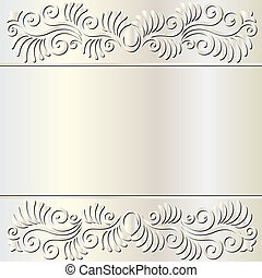 pearl background with floral ornaments